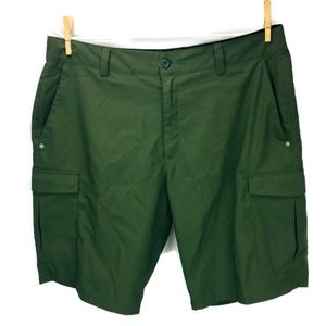 Under Armour Flat Front Cargo Short Army Green